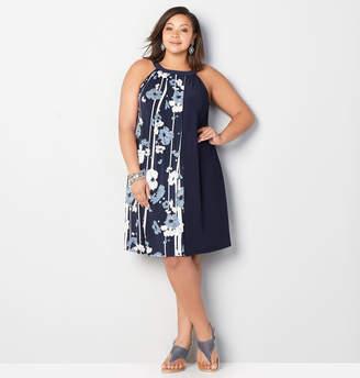 Avenue Vertical Floral Stripe A-Line Dress