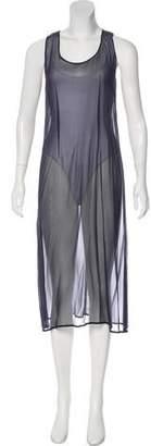 Morgane Le Fay Sheer Midi Dress