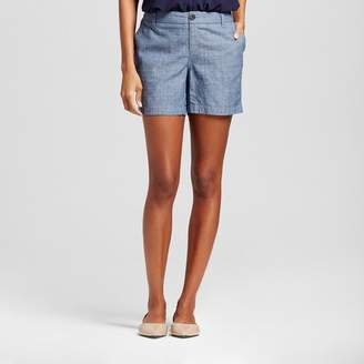 Merona Women's Chambray Chino Short Indigo $19.99 thestylecure.com