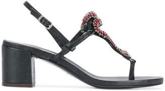 Emanuela Caruso crystal-embellished sandals