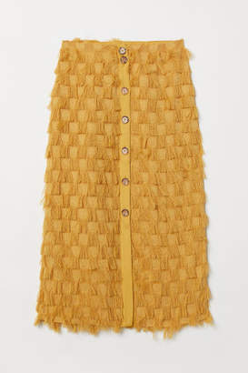 H&M Skirt with Fringe - Yellow