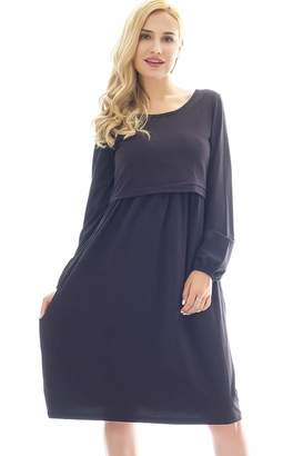 Women's Clothing Red 2 Dresses Cosyou Womens Cowl Neck And Over The Shoulder Maternity Dress L