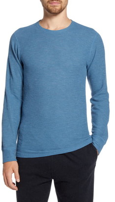Billy Reid Standard Fit Thermal Crewneck T-Shirt