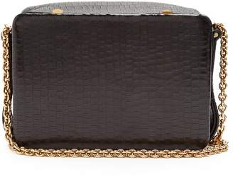 Lutz MORRIS Morrow small crocodile-effect leather bag