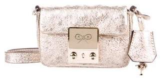 Anya Hindmarch Mini Metallic Leather Crossbody Bag
