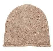 BEIGE Inis Meain Men's Rolled-Cuff Merino Wool-Cashmere Hat - Beige, Tan