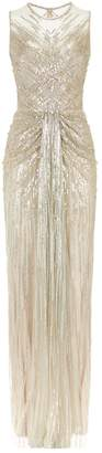 Jenny Packham Mira Sleeveless Embellished Gown