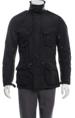 Ralph Lauren Black Label Leather-Accented Utility Jacket