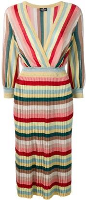 Elisabetta Franchi striped sweater dress