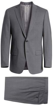 Hart Schaffner Marx Classic Fit Stretch Plaid Wool Suit