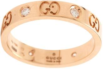 Gucci Icon pink gold ring