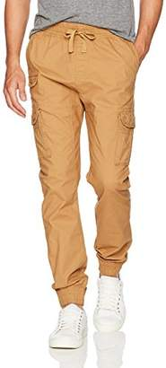 Southpole Men's Big and Tall Jogger Pants Washed Ripstop Fabric with Cargo Pockets