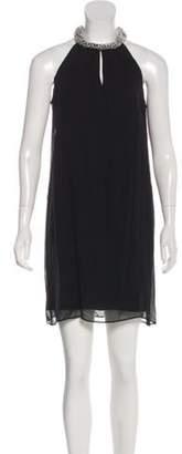 Diane von Furstenberg Lainey Embellished Mini Dress Black Lainey Embellished Mini Dress