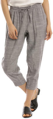 Must Have Linen Blend Pant Grey Marle
