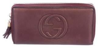 Gucci Soho Travel Zip-Around Wallet Aubergine Soho Travel Zip-Around Wallet