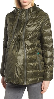 Modern Eternity Lightweight Puffer Convertible 3-in-1 Maternity Jacket