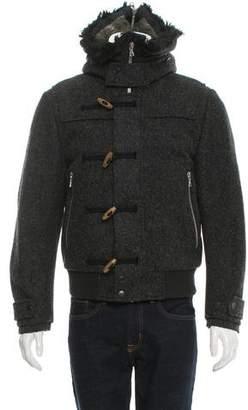Dries Van Noten Faux Fur-Trimmed Wool Bomber Jacket