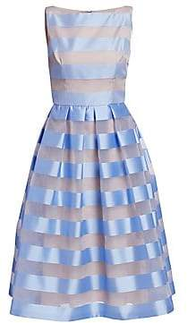 Lela Rose Women's Boatneck Full Skirt Dress