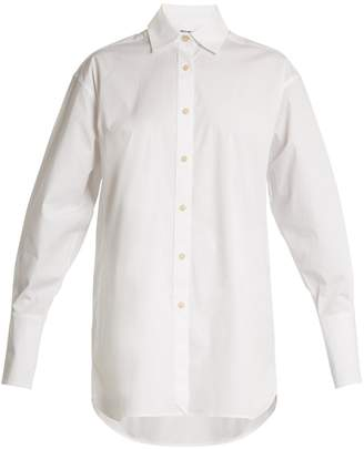 ELIZABETH AND JAMES Francois point-collar cotton shirt
