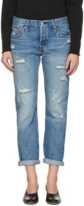 Levi's Blue 501 CT Jeans $100 thestylecure.com