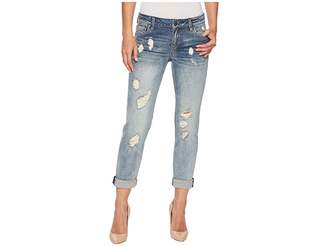 KUT from the Kloth Catherine Boyfriend Wide Cuff Jeans in Characterized