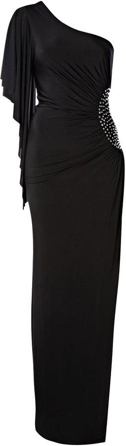 Women's Lipsy Maxi cut out diamond front dress