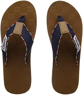 5ca9af2bd117 Tommy Jeans Hilfiger Denim Men s Tj Leather Footbed Beach Sandal Flip Flops