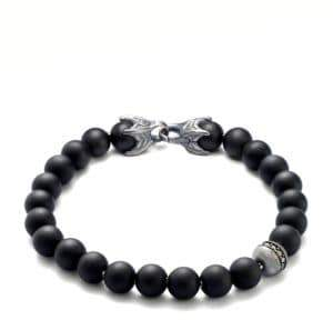 David Yurman Spiritual Bead Bracelet/Onyx& Diamond