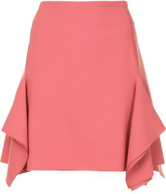 Dion Lee box ruffle draped mini skirt