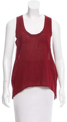 James Perse Sleeveless High-Low Top