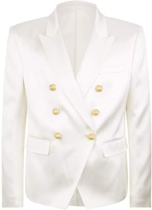 Balmain Silk Tuxedo Jacket
