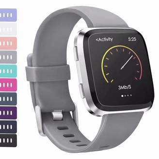 Fitbit AdePoy For Versa Strap bands, Adjustable TPU Replacement Sport Accessory Wristband for Versa Small Large