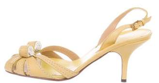 Valentino Leather Slingback Sandals