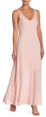 Line & Dot Inez V-Neck Maxi Dress
