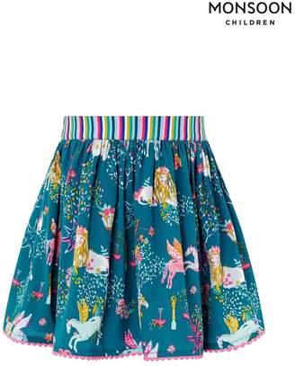 Monsoon Girls Green Aries Skirt - Green