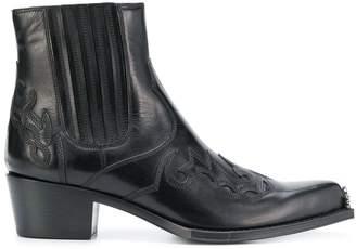 Calvin Klein cowboy ankle boots