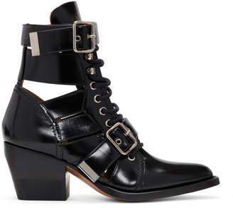 Chloé Black Rylee Strap Boots