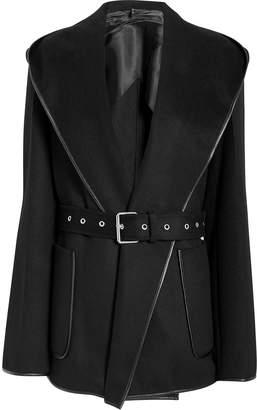 Helmut Lang Black Hooded Coat