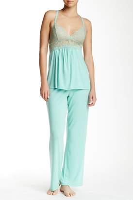 Josie 'Lily' Lace Top & Pajama Bottoms Set