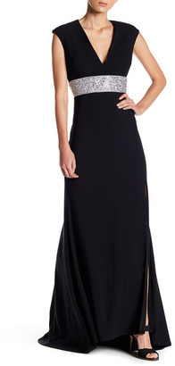 Marina Embellished Waist Gown $189 thestylecure.com
