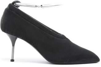 Jil Sander Bracelet Strap Velvet Pumps - Womens - Grey