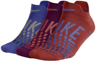 Nike Dry Cush Lowgfx 3 Pair Low Cut Socks - Womens