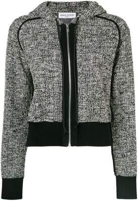Sonia Rykiel cropped zip front hoodie