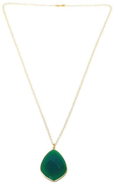 """ArgentovivoArgento Vivo Faceted Gemstone Gold-Plated Sterling Silver Pendant with 36"""" Chain"""
