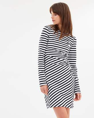 The Fifth Label Voyage Stripe Long Sleeve Dress