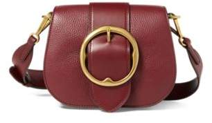 Ralph Lauren Pebbled Leather Lennox Bag Oxblood One Size