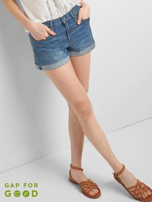 "Gap Mid Rise 3"" Denim Shorts with Rolled Hem"