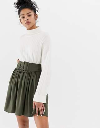 Asos Design DESIGN mini skirt with self covered belt