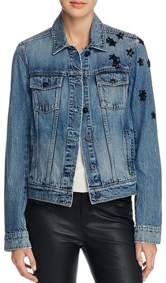 PAIGE Rowan Embellished Denim Jacket $299 thestylecure.com