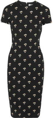 Victoria Beckham - Embroidered Jacquard Dress - Black